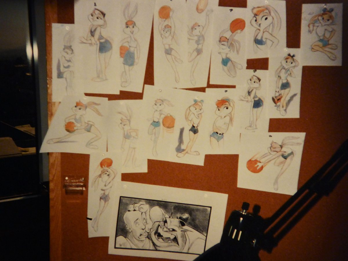 Space Jam character designs. Image courtesy Neil Boyle.