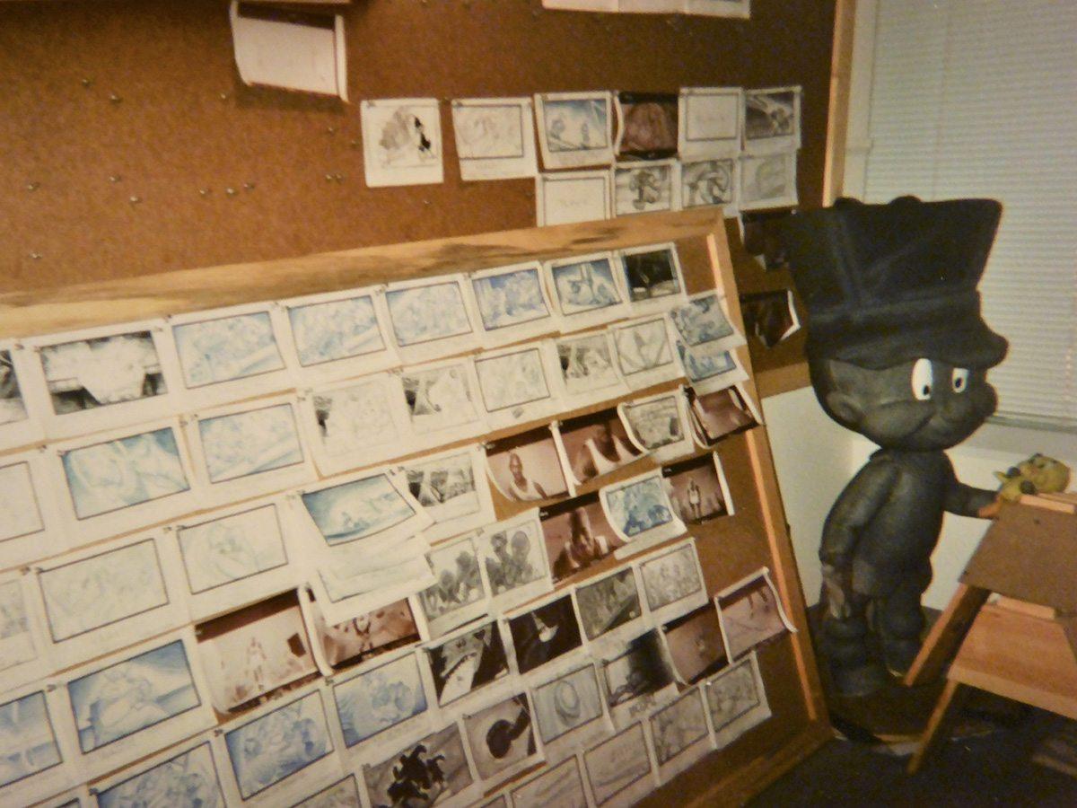 Storyboards for Space Jam. Image courtesy Neil Boyle.