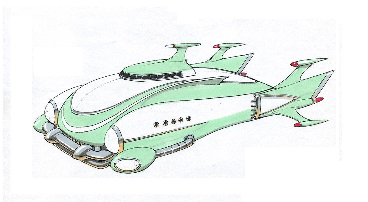 Monstars ship. Image courtesy Bill Perkins.