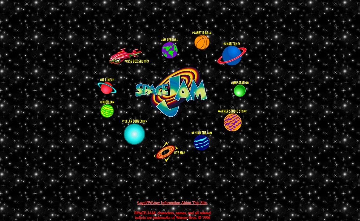 Space Jam's original 1996 website is still operational.