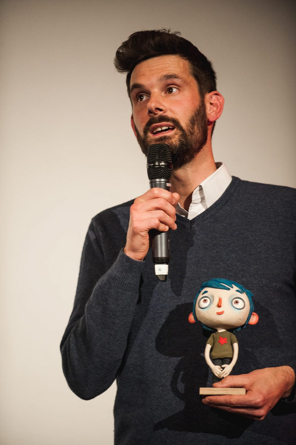 """My Life as a Courgette"" animator Elie Chapuis introduces a screening of the film at DOK Leipzig."