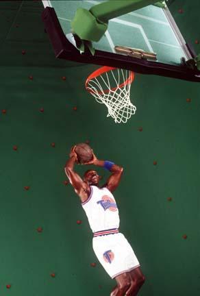 Michael Jordan on set.