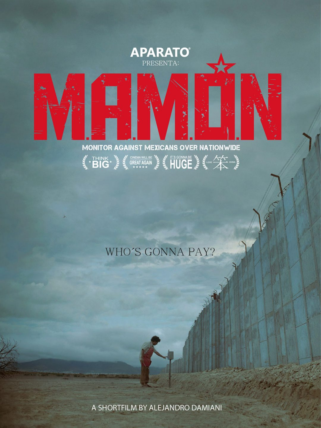"""""""M.A.M.O.N."""" poster."""
