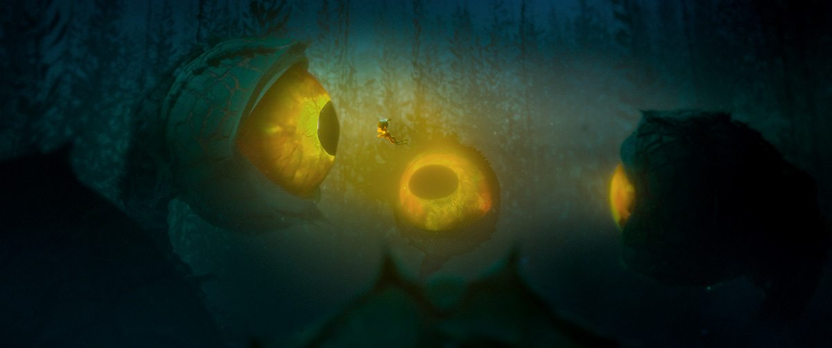 Kubo encounters the giant eye. Photo credit: Laika Studios / Focus Features.