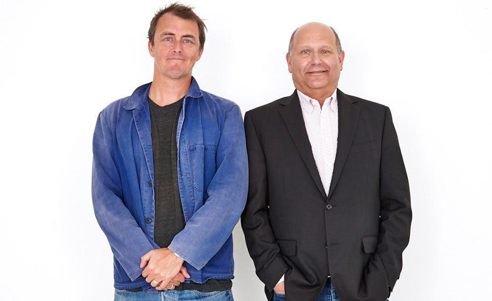 """Sing"" director Garth Jennings (l.) and Illumination CEO Chris Meledandri. Photo: Chris Chapman."
