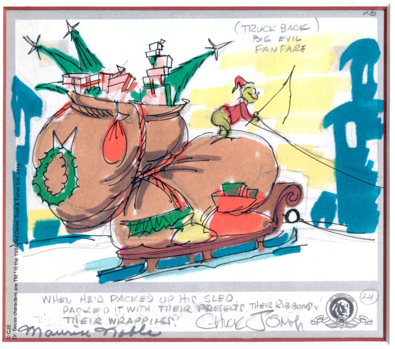 Story drawing by Chuck Jones.