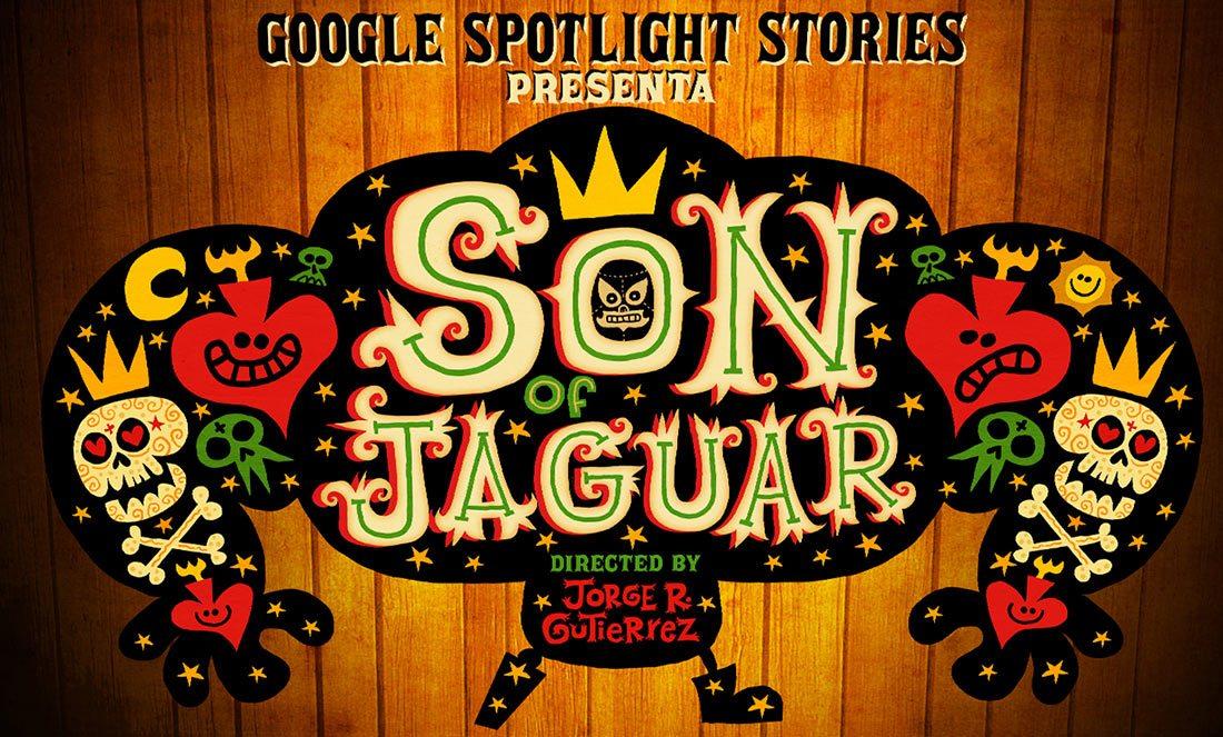 Jorge Gutierrez (pointing upward) with the Google Spotlight Stories team.