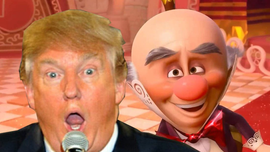 What Does Donald Trump Talking About His Cock Sound Like in King Candy's Voice?