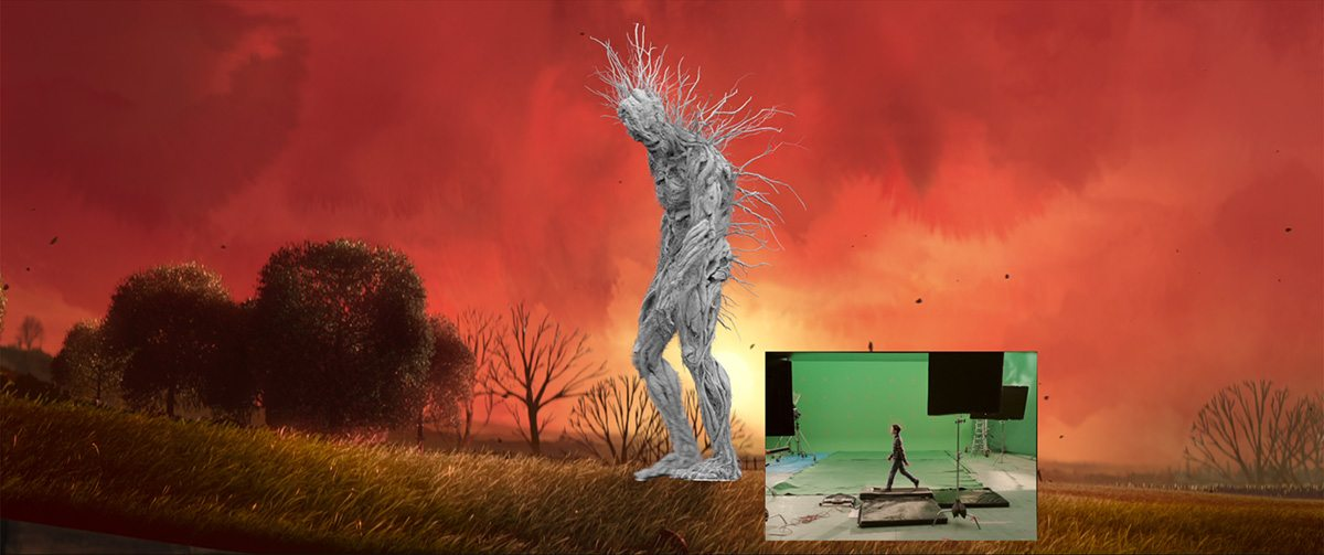 The monster model and greenscreen element for Conor.