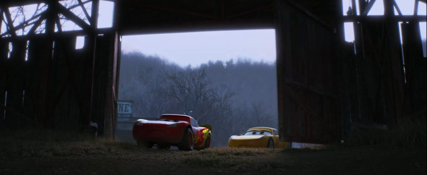 "A still from ""Cars 3."""