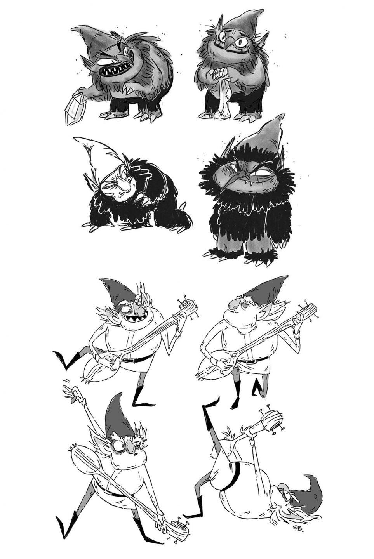 "Early ""Trollhunters"" concept art by Elaine Bogan. Source: Elaine Bogan Twitter."