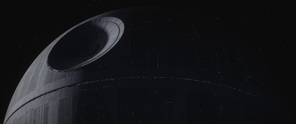 ILM's intricately modeled Death Star.