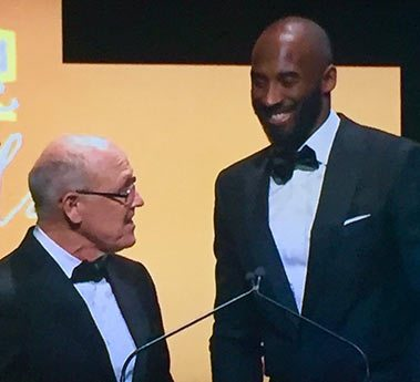 At one point of the evening, Glen Keane and former NBA star Kobe Bryant did some shtick onstage.