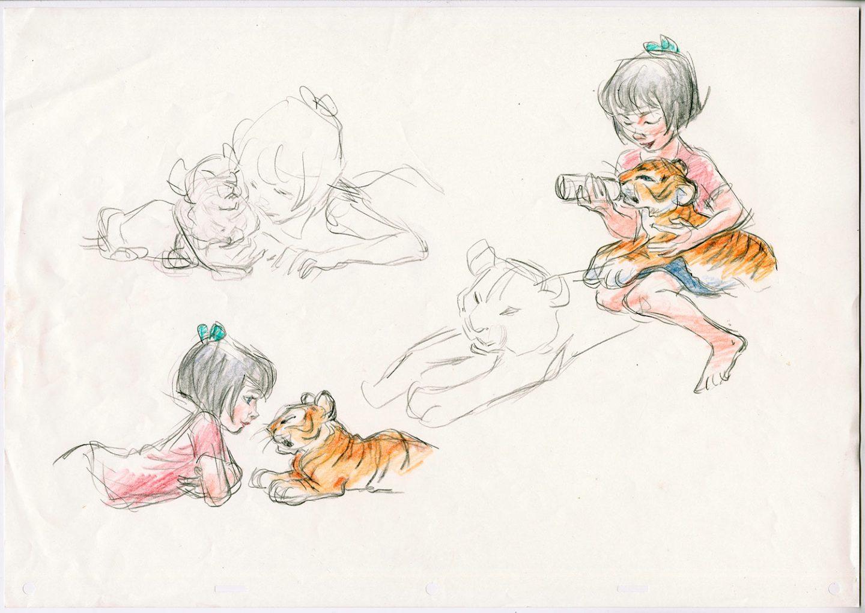 """Visual development sketch from Deja's upcoming short """"Mushka."""""""