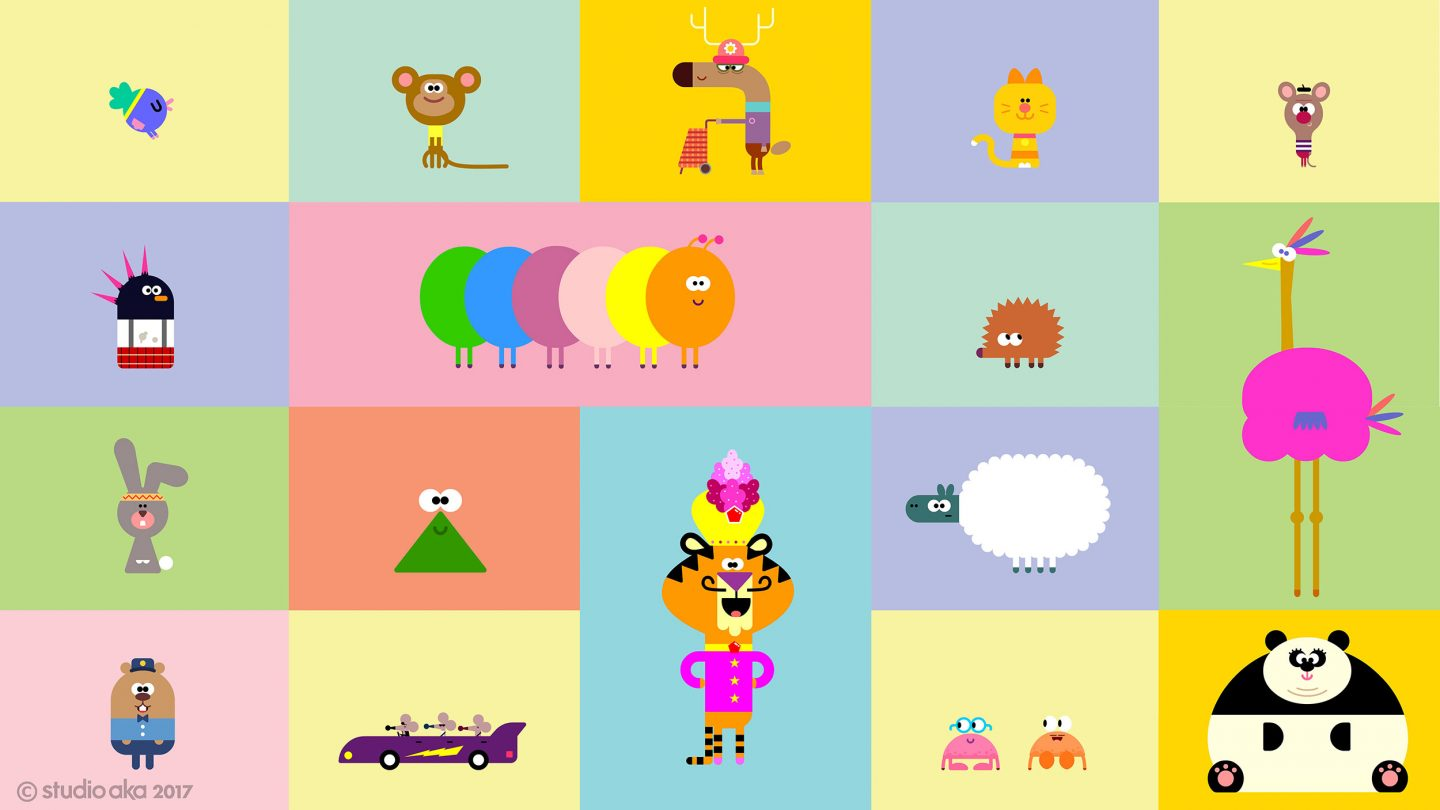 "The final character line-up on ""Hey Duggee."""