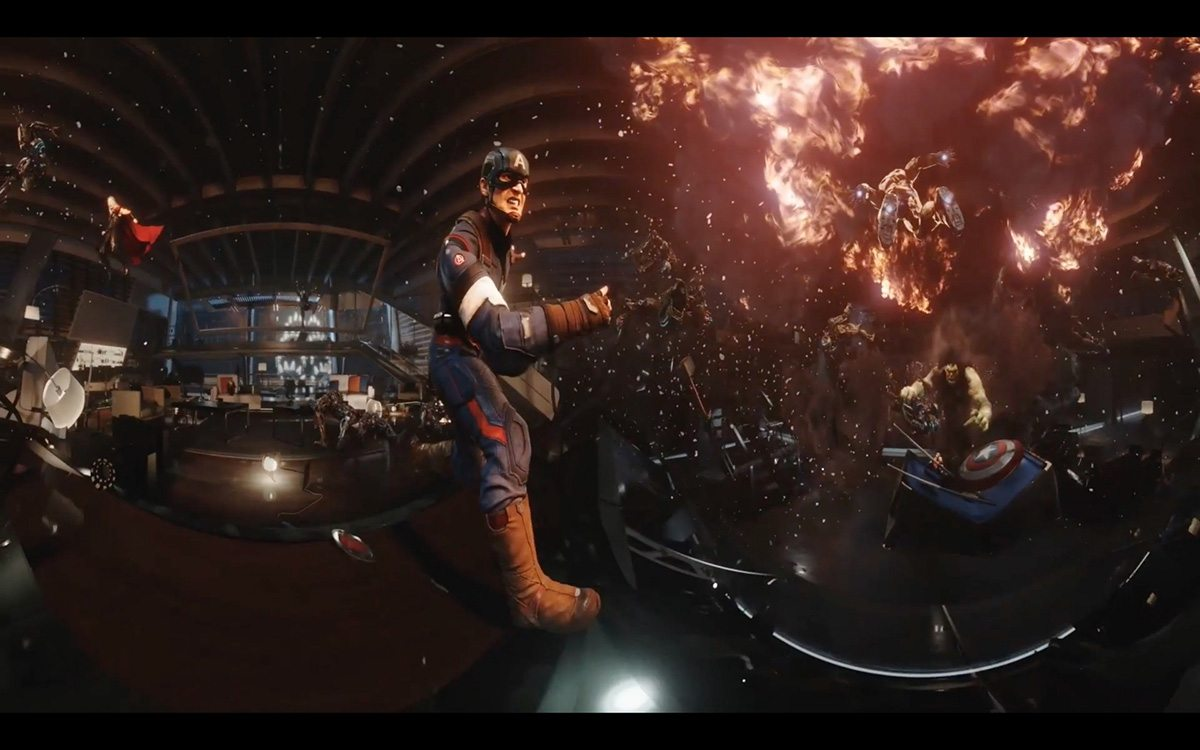 "A still from Framestore's ""The Avengers Tower"" vr project."