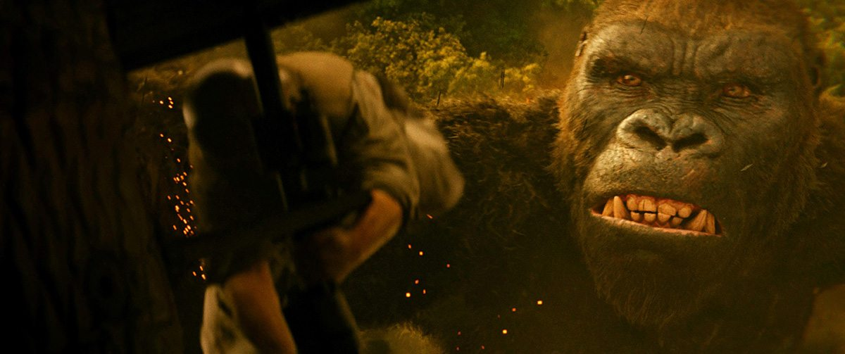 Since Kong was so big, there was the opportunity to show a lot of detail in his face.