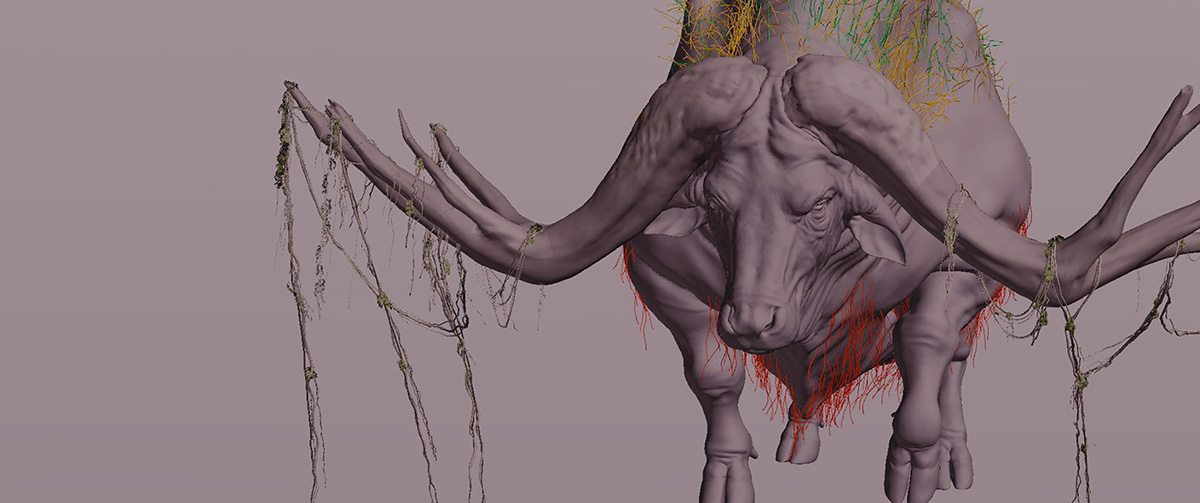 Water buffalo cg model.