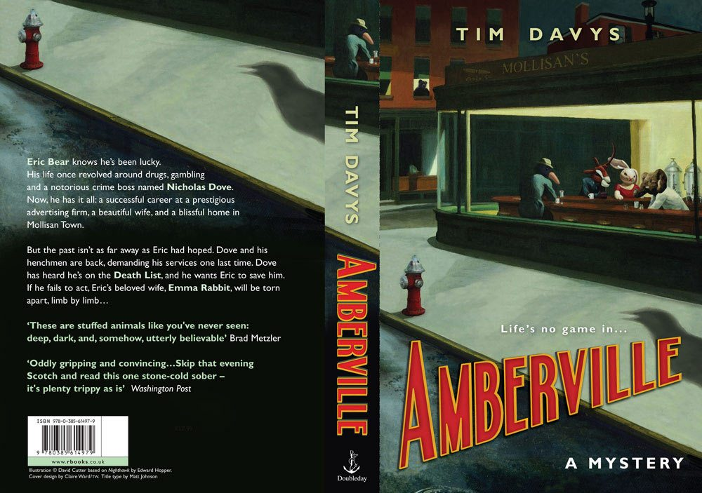 "Cover of Tim Davy's ""Amberville."""