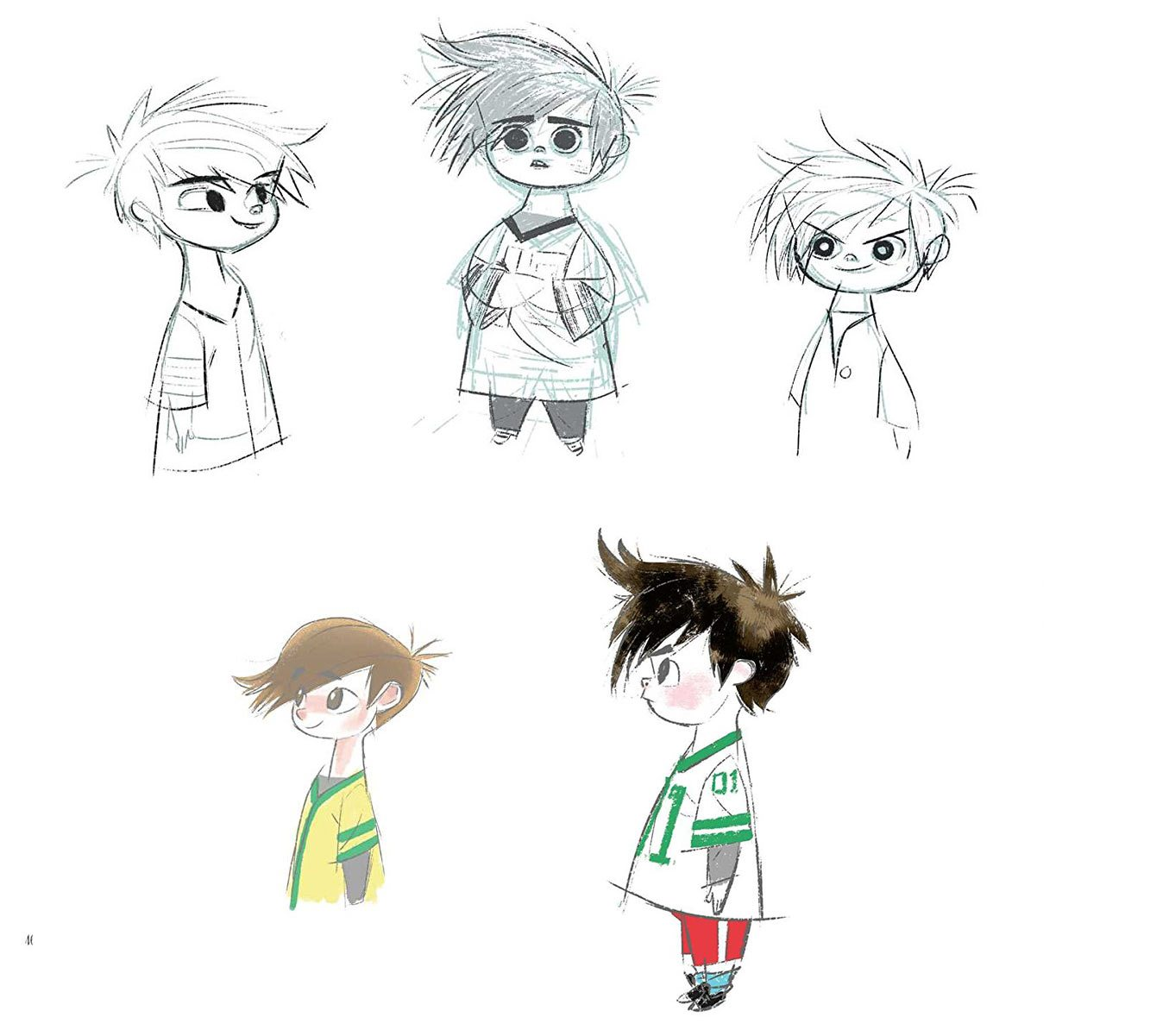 Director Tom McGrath wanted the stylized look of Joe Moshier's character designs (above) for the project.