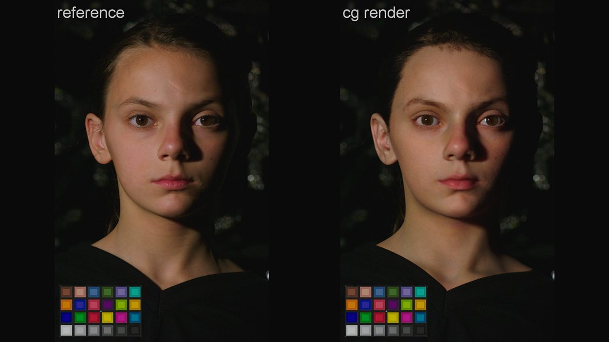 Real Dafne Keen and her cg head.