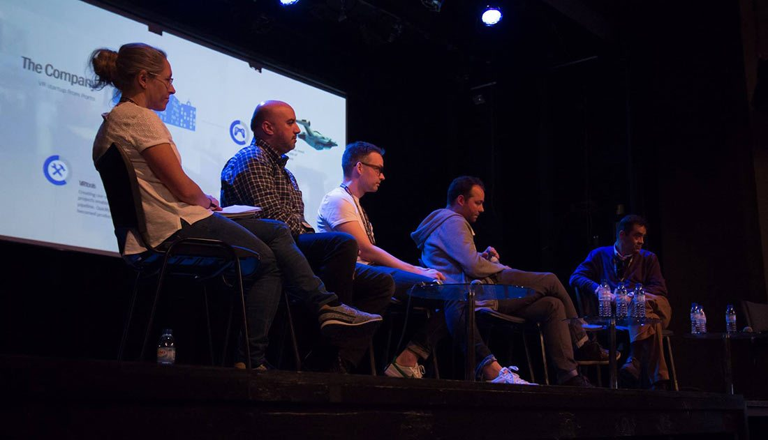 Panel about vr at Monstra. (Photo courtesy of Monstra festival.)