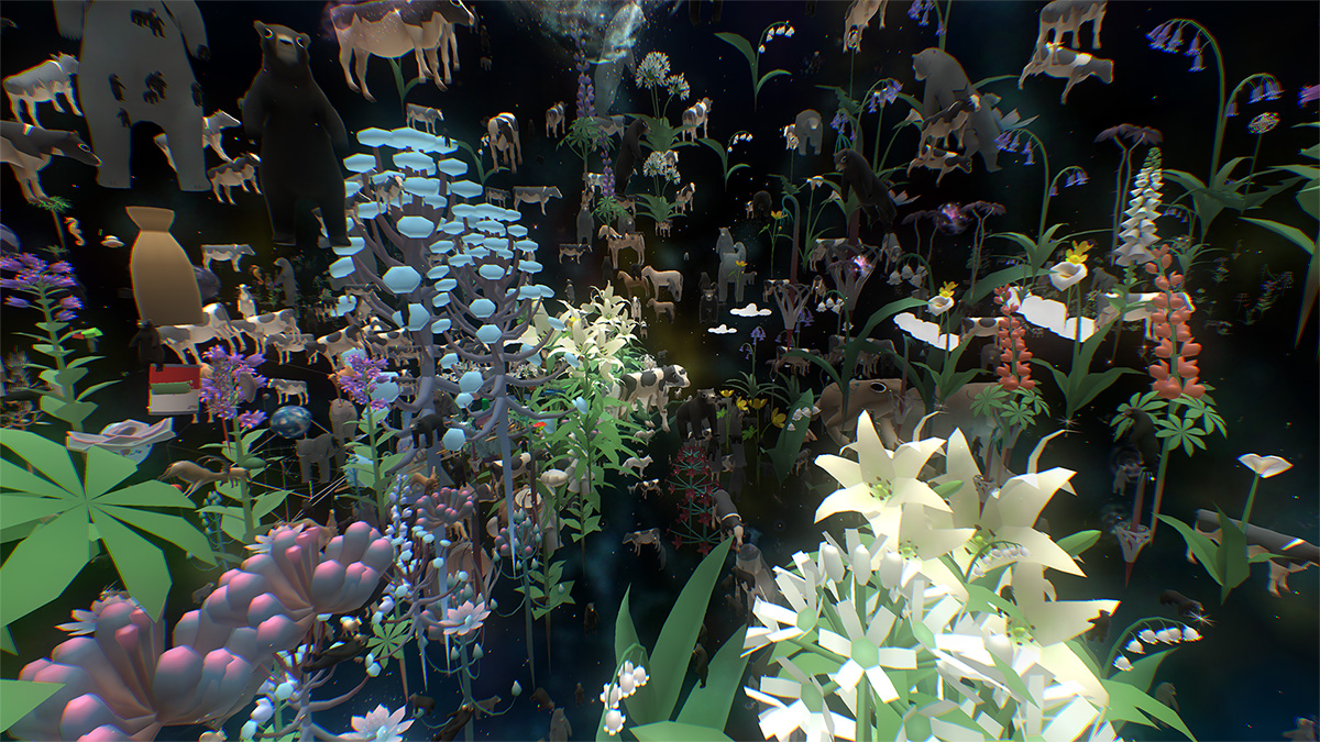 In Everything, the player explores a diverse world of 'everything', from animals to planets to galaxies and beyond.