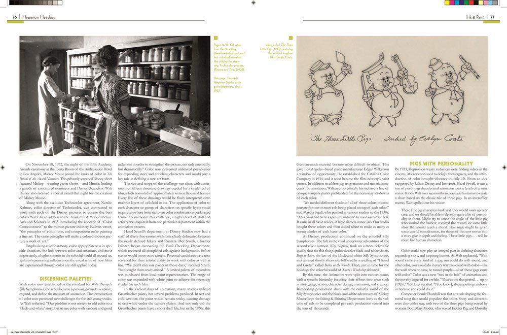 "A spread from the upcoming ""Ink & Paint: The Women of Walt Disney's Animation."""