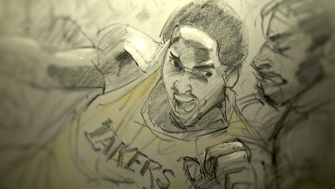 """A frame from """"Dear Basketball."""""""