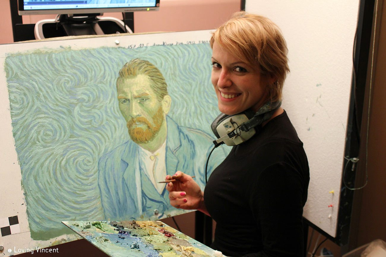 Anna Kluza, one of the first animator-painters hired to work on the film.