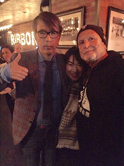Production I.G's U.S. team Mitsuhisa Ishikawa, Maki Terashima-Furuta, and Avi Arad.