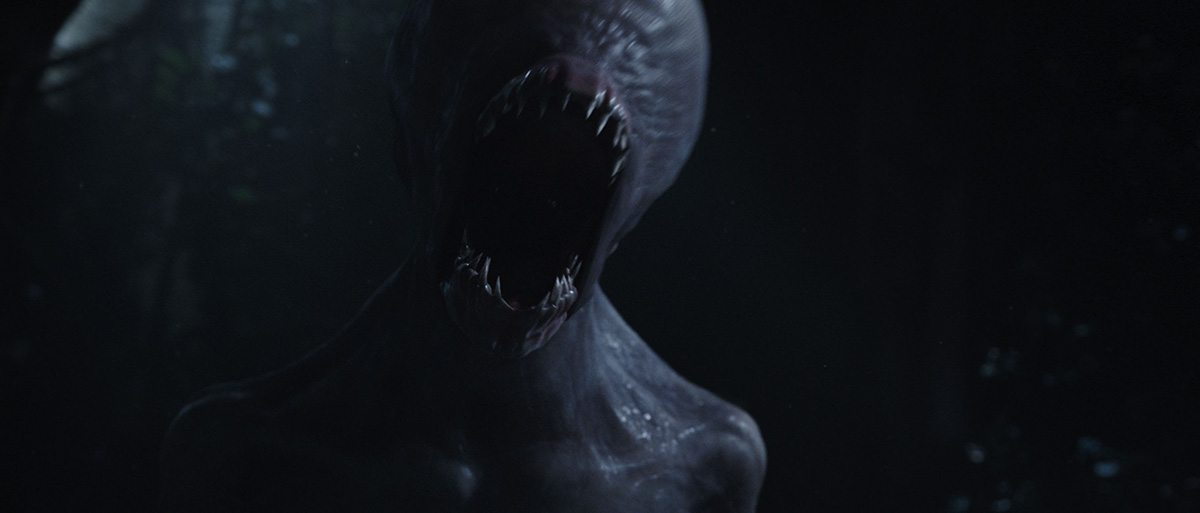 The Neomorph, which used Goblin sharks as one of its design references, makes a show of force.