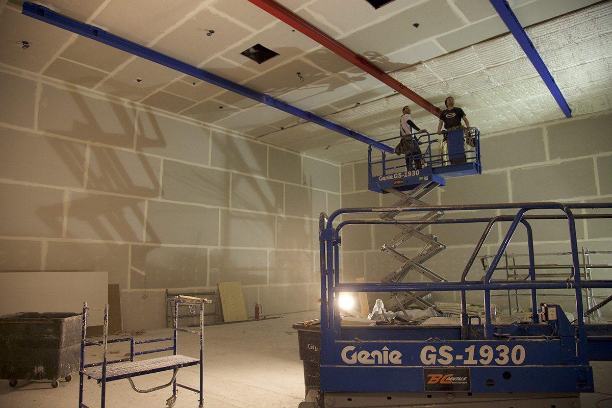 The capture studio under construction.