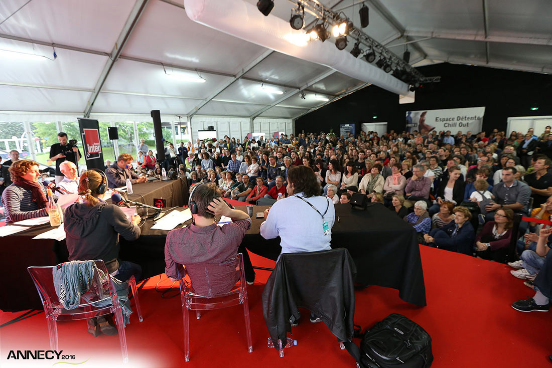 A panel at Annecy. Photo: G. Piel/CITIA.
