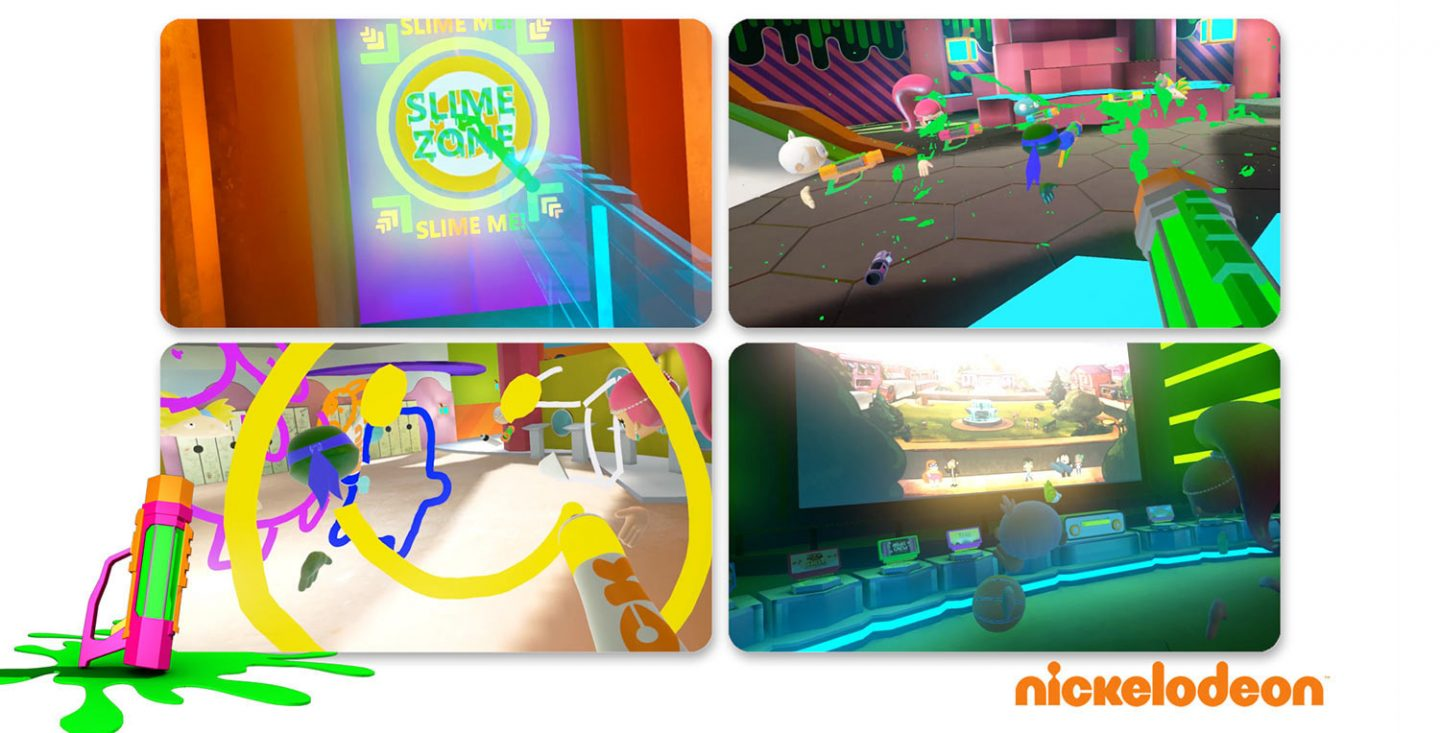 Screenshots of Nick's vr experience Slime Zone, which was unveiled earlier this year.