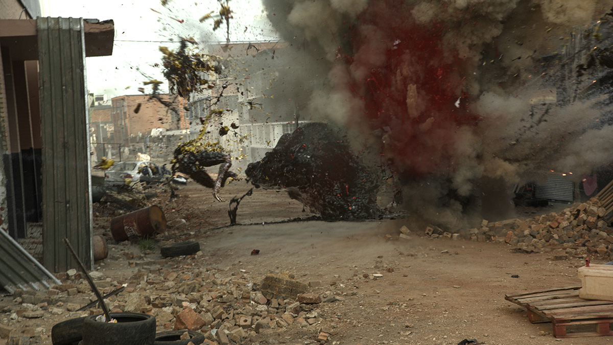 """Rakka"" features signature Blomkamp gore and action-style effects."