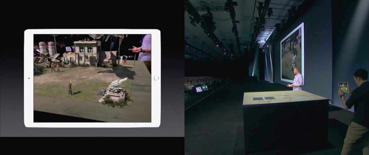 A screenshot from the Apple WWDC live demo.
