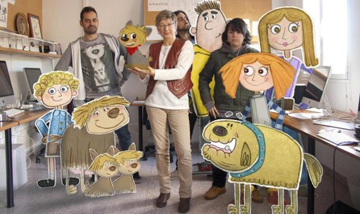"The team from La Casa Animada with characters from ""Cleo."""