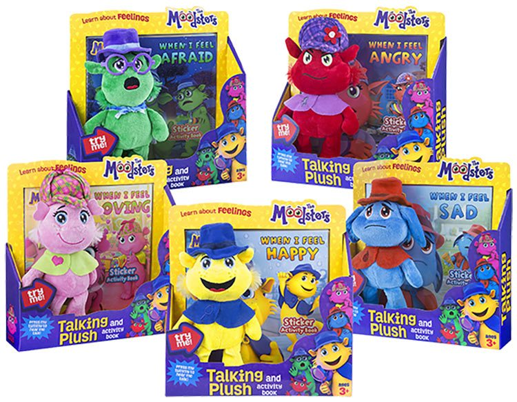 "An example of ""Moodsters"" merchandise."