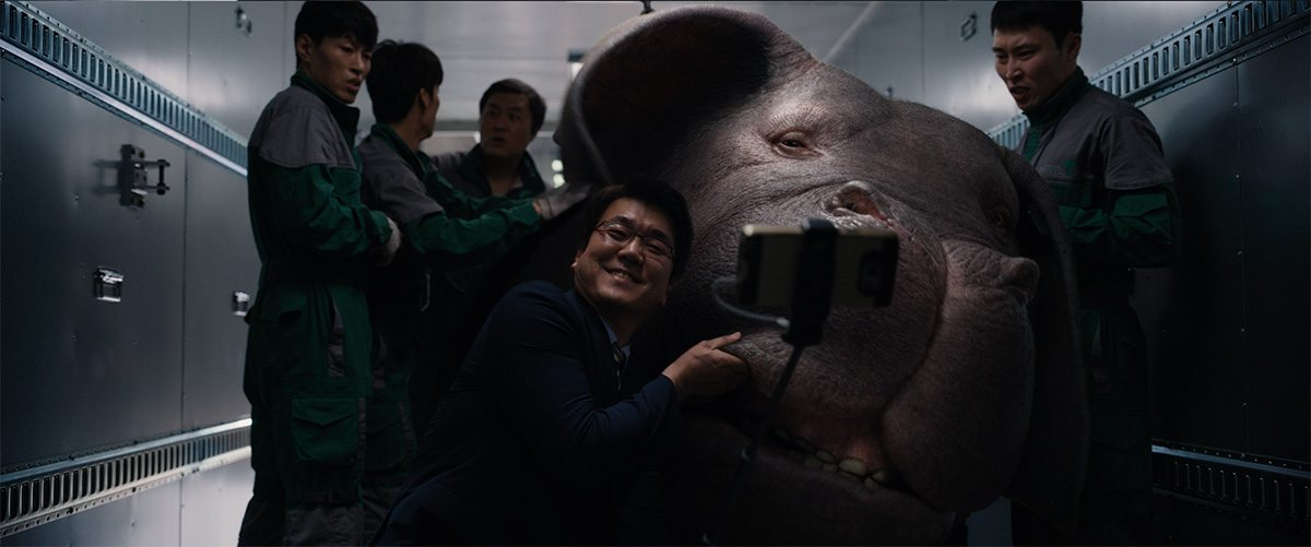 Okja had to be placed into several different environments.
