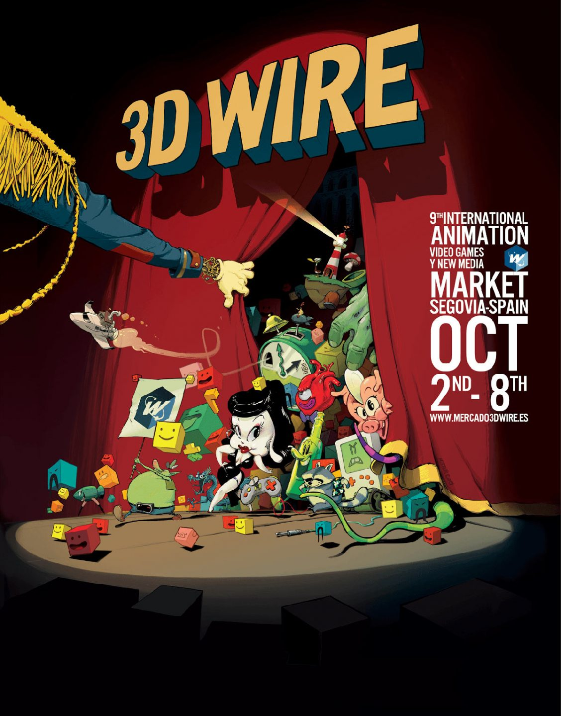 3D Wire 2017 poster by Nacho Rodriguez.