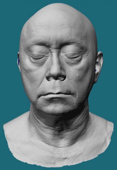 Price Pethel's life mask scan.