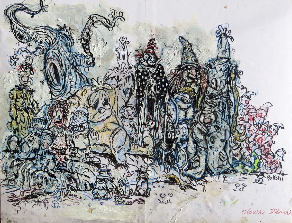 Recent paintings by Ralph Bakshi, above and below, show new directions that he is exploring as a fine artist.