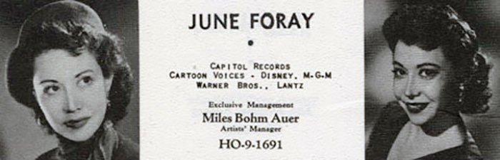 June Foray, RIP.