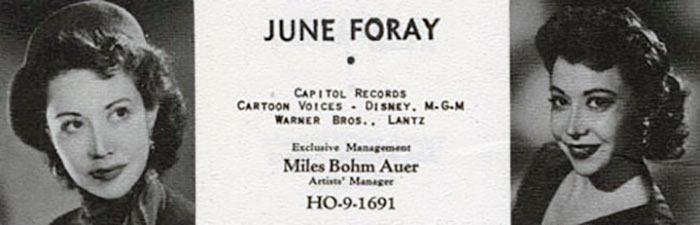June Foray, RIP.