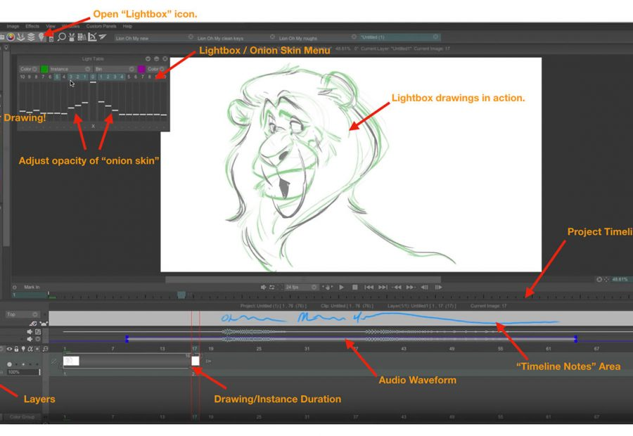 The TVPaint interface in action.