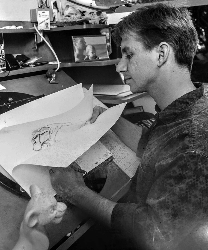 "Here I am flipping drawings while working on ""The Lion King."""