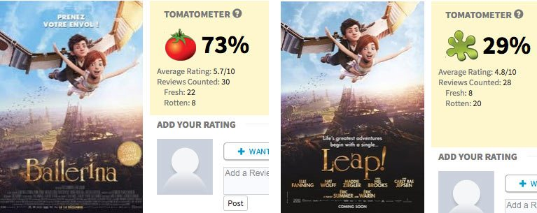 'Leap!' and 'Ballerina' reviews.