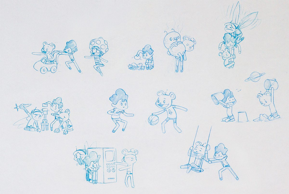 Character concept designs.