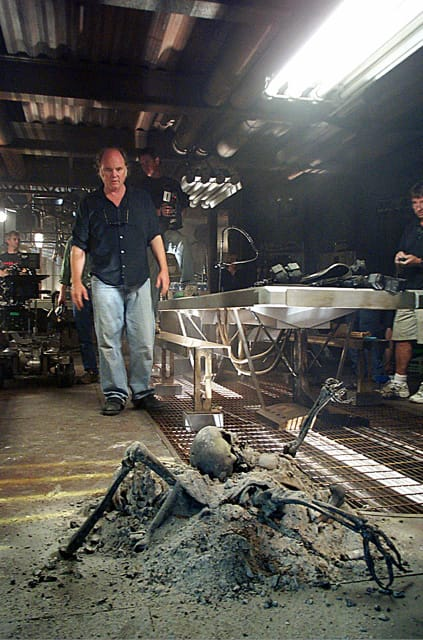 "Phil Tippett directing on ""Starship Troopers 2: Hero of the Federation."""